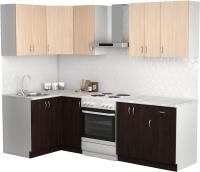 Готовая кухня S-Company Клео лайт 1.2x1.9 левая (венге/дуб молочный) -