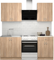 Готовая кухня S-Company Клео лайт 1.4 (дуб сонома/дуб сонома) -