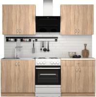 Готовая кухня S-Company Клео лайт 1.6 (дуб сонома/дуб сонома) -