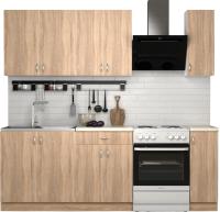 Готовая кухня S-Company Клео лайт 1.7 (дуб сонома/дуб сонома) -