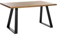 Обеденный стол Грифонсервис Loft СМ5-1 (черный/орех) -