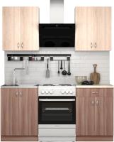 Готовая кухня S-Company Клео лайт 1.2 (ясень шимо темный/ясень шимо светлый) -