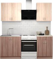 Готовая кухня S-Company Клео лайт 1.4 (ясень шимо темный/ясень шимо светлый) -