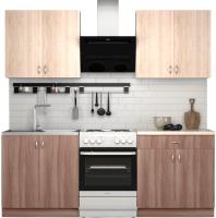 Готовая кухня S-Company Клео лайт 1.6 (ясень шимо темный/ясень шимо светлый) -