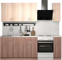 Готовая кухня S-Company Клео лайт 1.7 (ясень шимо темный/ясень шимо светлый) -