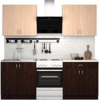 Готовая кухня S-Company Клео лайт 1.6 (венге/дуб молочный) -