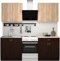 Готовая кухня S-Company Клео лайт 1.6 (венге/дуб сонома) -