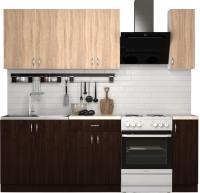 Готовая кухня S-Company Клео лайт 1.7 (венге/дуб сонома) -