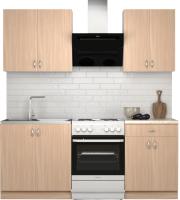 Готовая кухня S-Company Клео лайт 1.4 (дуб молочный/дуб молочный) -