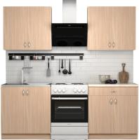 Готовая кухня S-Company Клео лайт 1.6 (дуб молочный/дуб молочный) -