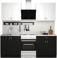 Готовая кухня S-Company Клео лайт 1.6 (черный/белый) -