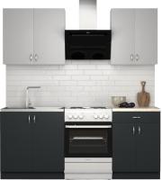 Готовая кухня S-Company Клео лайт 1.4 (антрацит/стальной серый) -
