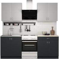 Готовая кухня S-Company Клео лайт 1.6 (антрацит/стальной серый) -