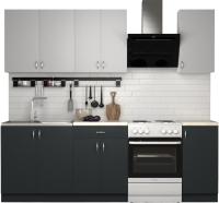 Готовая кухня S-Company Клео лайт 1.8 (антрацит/стальной серый) -
