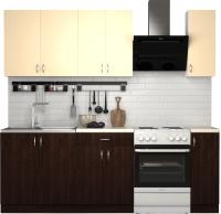 Готовая кухня S-Company Клео лайт 1.7 (венге магия/песочный) -