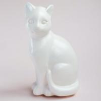 Статуэтка Нашы майстры Сидячий кот / 3022 (белый) -