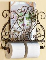 Держатель для туалетной бумаги Грифонсервис С держателем для газет Н2 (коричневый) -