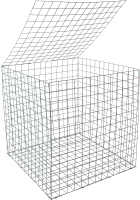Габионный короб Грифонсервис Куб / ГБК-4 (черный) -