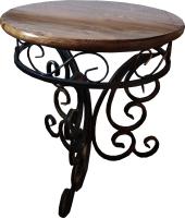 Стол садовый Грифонсервис КОВ10 (черный в золоте/орех) -