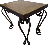 Кофейный столик садовый Грифонсервис КОВ11 (черный в золоте/орех) -