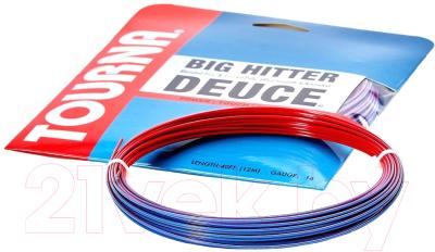Струна для теннисной ракетки Tourna Big Hitter Deuce 1.25/12м / BH-D-17 (красный/синий)