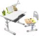 Парта+стул Rifforma Set-10 (светло-серый) -