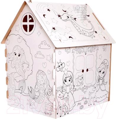 Детский игровой домик Zabiaka Дом-раскраска. Милые принцессы / 5091383