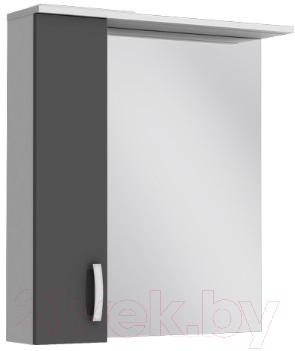 Шкаф с зеркалом для ванной Ювента БфШНЗ1-75 (серый, левый)