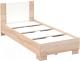Односпальная кровать Империал Аврора 90 (дуб сонома/белый) -
