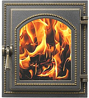 Дверца печная Везувий 220 (бронзовый) -
