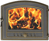 Дверца печная Везувий 224 (бронзовый) -