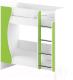 Двухъярусная кровать Славянская столица ДУ-КД2 (белый/зеленый) -