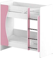 Двухъярусная кровать Славянская столица ДУ-КД2 (белый/розовый) -