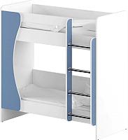 Двухъярусная кровать Славянская столица ДУ-КД2 (белый/синий) -