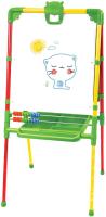 Мольберт детский Ника М2Л/СФ2 (желто-красный) -