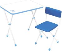 Комплект мебели с детским столом Ника НДУ1/Г Умка фантазер (голубой) -