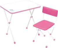 Комплект мебели с детским столом Ника НДУ1/Р Умка фантазер (розовый) -