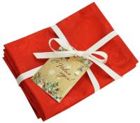 Набор сервировочных салфеток Listelle Set-4 Праздничный красный 64704 -