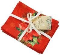 Набор сервировочных салфеток Listelle Set-4 Рождественская звезда 64701 -
