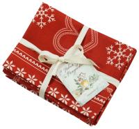 Набор сервировочных салфеток Listelle Set-4 Пряничный красный 63601 -