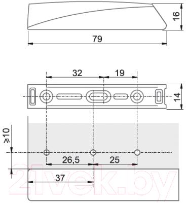 Заглушка мебельная Boyard AMF16/GR