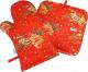 Набор прихваток Listelle Новогодний крамбл / 750201/203 -