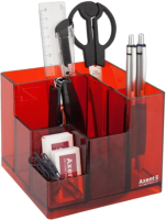 Органайзер настольный Axent Cube / 2104-04 (красный) -
