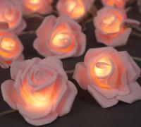 Светодиодная гирлянда Luazon Нить Розы светло-розовые 3612371 (теплый белый) -