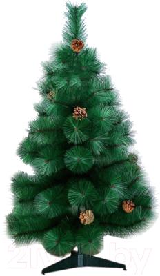 Кедр искусственный Зимнее волшебство Зеленый шишки 0.9м / 701405
