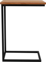 Приставной столик BestLoft 1642-46/DH (черный/дуб натуральный) -