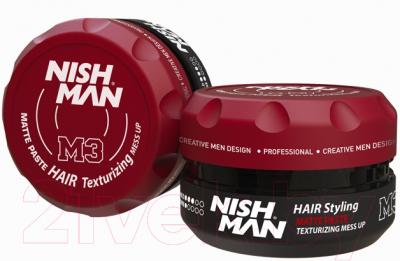 Паста для укладки волос NishMan M3 Mess Up матовая текстурирующая (100мл)