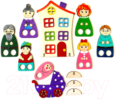 Пальчиковый кукольный театр Крона Пальчиковый набор. Семейка / 170-012