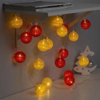 Тайские фонарики Luazon Нить. Клубки красно-золотистые 3590726 (теплый белый) -