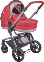 Детская универсальная коляска Farfello Zuma Duo Comfort 2 в 1 / ZDC-11 (рубиновый) -